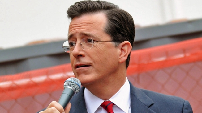 "Colbert Mocks Biden's ""Will & Grace"" Name-Drop"