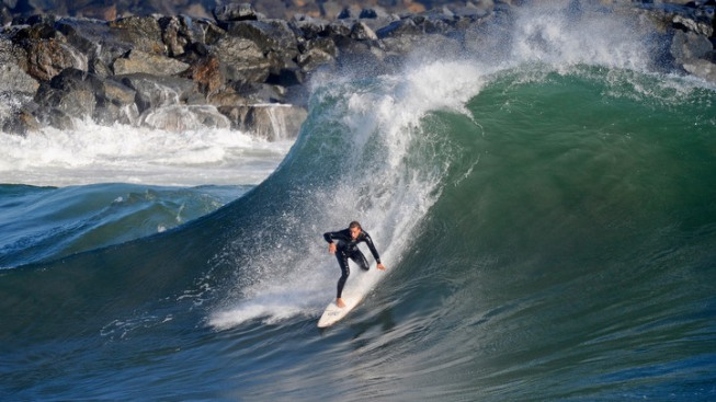 High Surf, Cool Breezes at the Beach