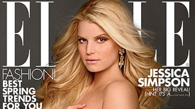 Pregnant Jessica Simpson Poses Nude on ELLE Cover