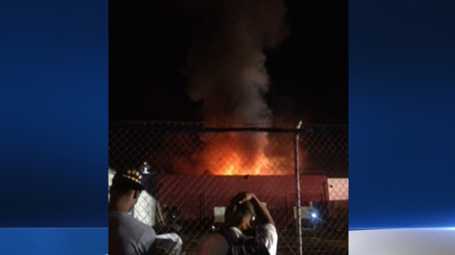 Fire Breaks Out at Industrial Building in North Hollywood
