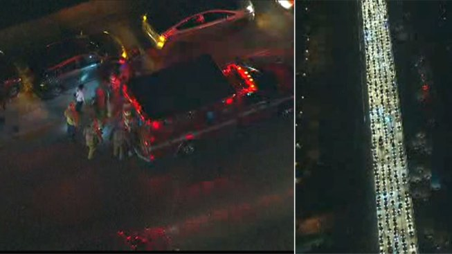 Lanes Reopen After 9-Car Crash 170 Freeway in Van Nuys