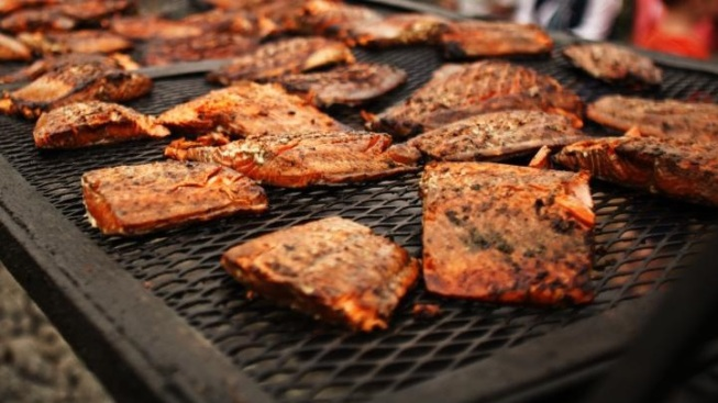 Fourth of July Flavorful: World's Largest Salmon BBQ