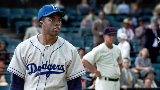 """42"": A Hollywood Homage to Jackie Robinson and Little More"