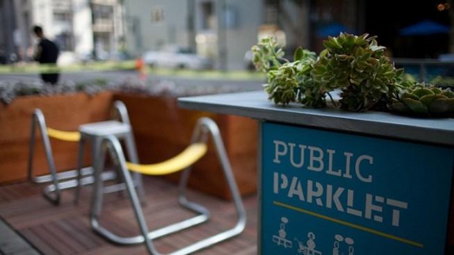 The Spring Street Parklets Debut