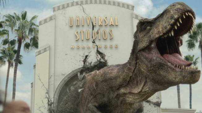 T. Rex Wrecks Universal in New 'Jurassic World' Ride Spot