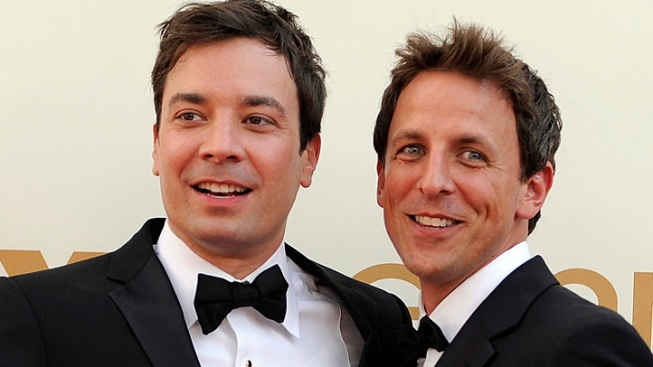 """Jimmy Fallon's Advice to Incoming """"Late Night"""" Host Seth Meyers: Make Friend's With a Certain Celeb"""