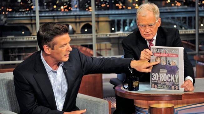 "Alec Baldwin Drops Pants, Talks Photog Fracas on ""Letterman"""