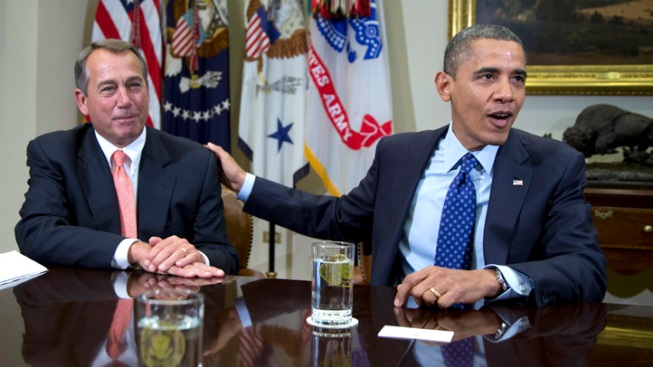 "Movement Seen on ""Fiscal Cliff"" as Obama, Boehner Meet"