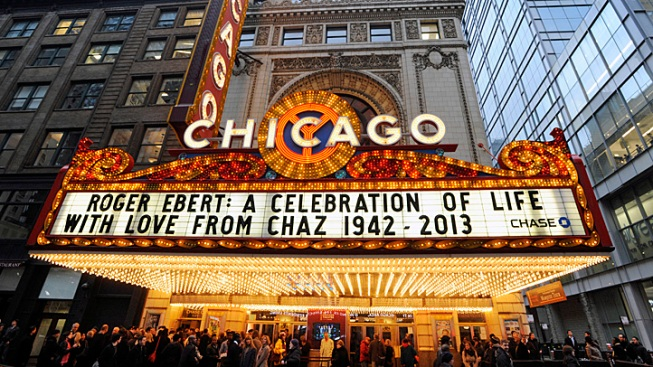 Film Critic Roger Ebert Honored at Chicago Theatre Memorial