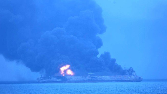 Iranian Tanker Collides With Freighter Off China; 32 Missing