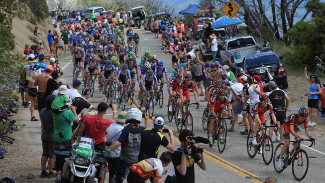 Amgen Tour Bicyclists Trace 124 Miles of Searing Desert Roads
