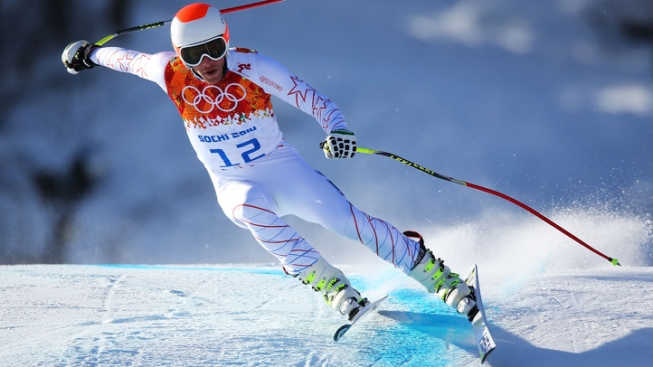 Bode Miller Goes Big, Falls Short In Second Winter Olympics Downhill Training