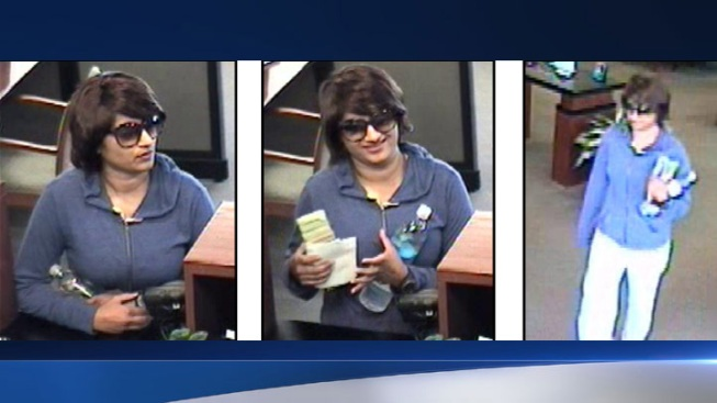 "Glamorous ""Bombshell Bandit"" Wanted in Valencia Bank Robbery"