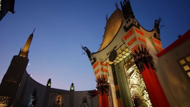 Chinese Theatre Forecourt Goes Yoga Studio