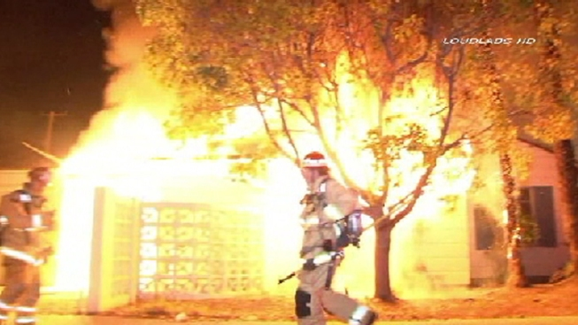 Arson Investigators Probe House Fire in Downey