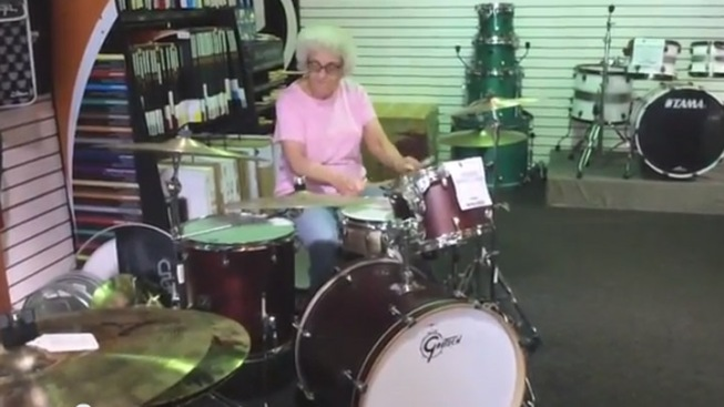 """Drumming """"Grandma"""" a Hit With 2 Million YouTube Views"""