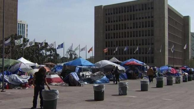 Homeless People Moved From Santa Ana Civic Center