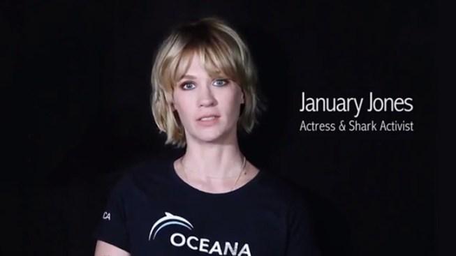 WATCH: January Jones Makes a Plea to Save the Sharks