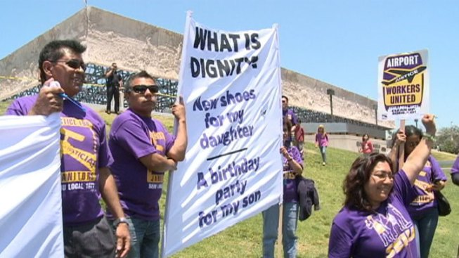 Janitors Rally for Better Wages, Health Care