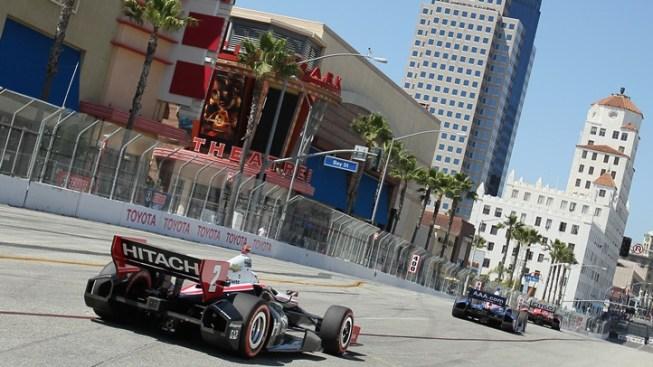 Standing Start Returning to Shoreline Drive for Grand Prix of Long Beach