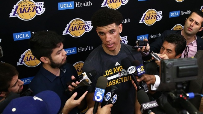 Here are the first vicious National Basketball Association shots at Lonzo and LaVar Ball