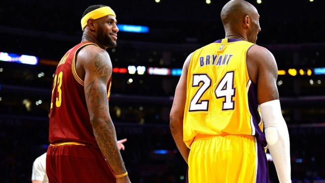 f737ad83829 Kobe Bryant s Farewell Tour Starts in Philly. Getty Images. LeBron James ...