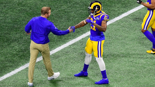 new styles 2977e 7af9f Rams CB Marcus Peters Not Concerned About New Contract - NBC ...