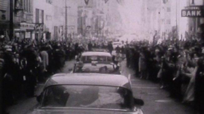 JFK's Motorcade Winds Through Dallas