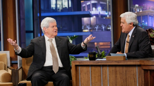 "Newt Gingrich Schmoozes with Snooki on ""Tonight Show"""