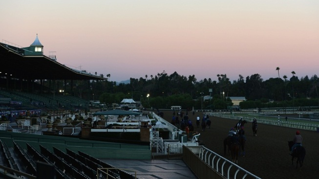 Santa Anita Nears the Starting Gate