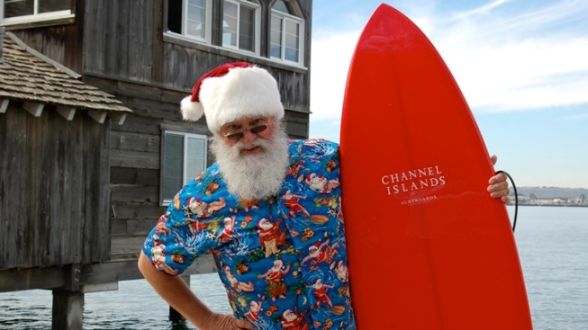 Surfin' Santa Visits Seaport Village