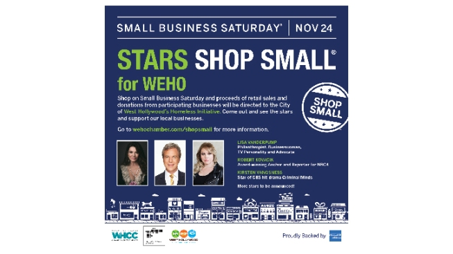 Shop Small in West Hollywood on November 24