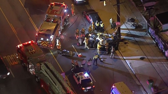 One Person Killed in South LA Crash Into Pole - NBC Southern California
