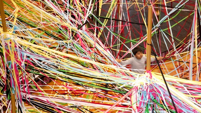 Help Weave a Giant Work of Abstract Art