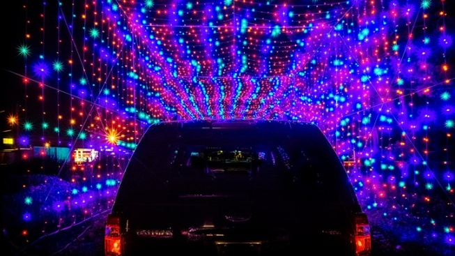 cruise by the new magic of lights in fontana auto club speedway
