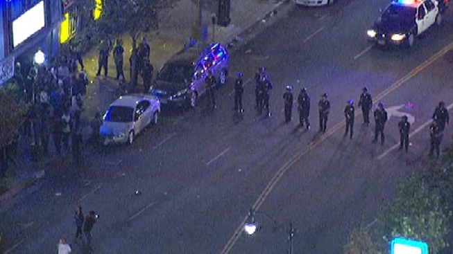 LAPD Disperses Unruly Crowd; No Arrests Made