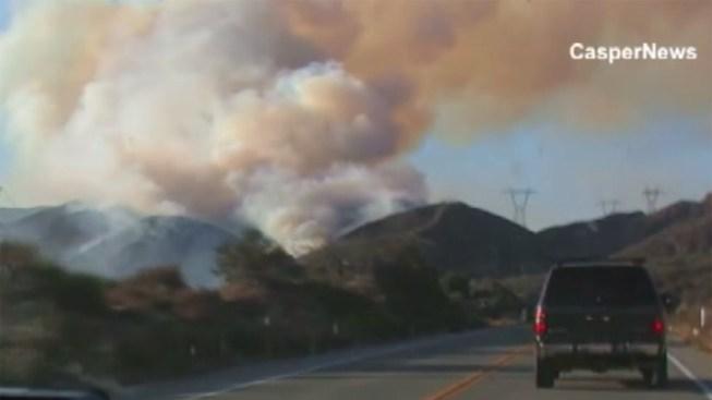 Wildfires Burn in Cajon Pass