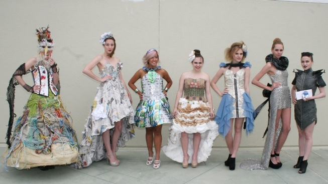 Recyclable Runway: Aquarium Trashin' Fashion Show
