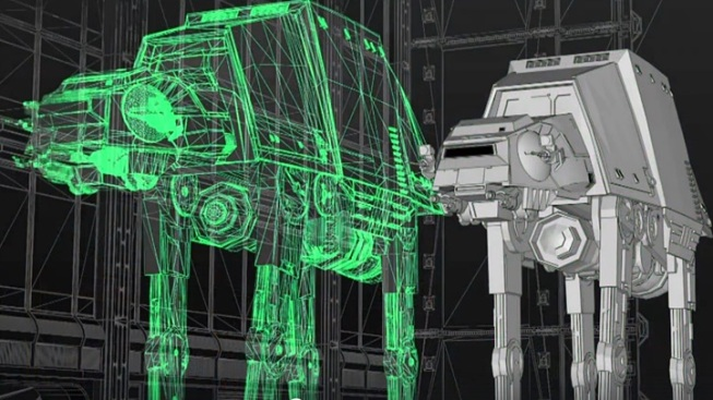 Star Wars Land: AT-AT Construction Peek