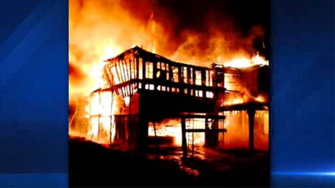 New Under-Construction Homes Go Up in Flames