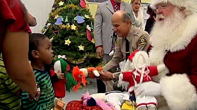 Sheriff Hands Out Toys Made By Inmates