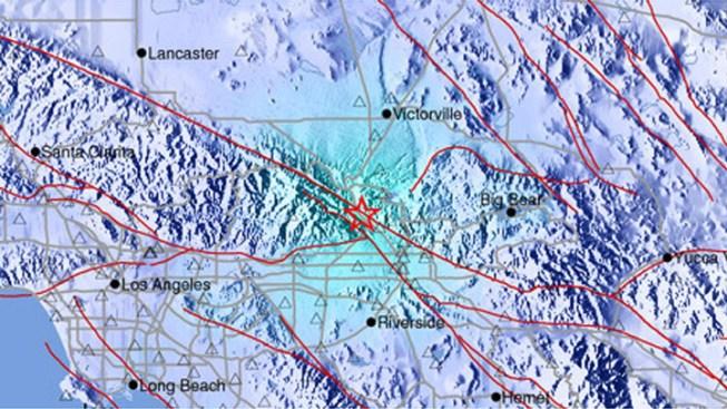 Devore Earthquake Downgraded to Magnitude 3.8