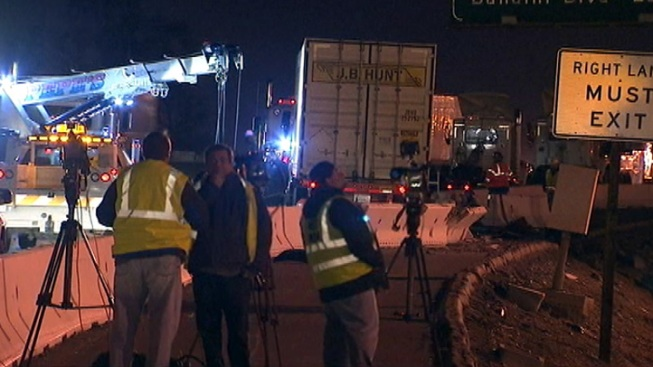 Lanes Reopen on Northbound 710 Freeway After Crash, Barrier Repairs