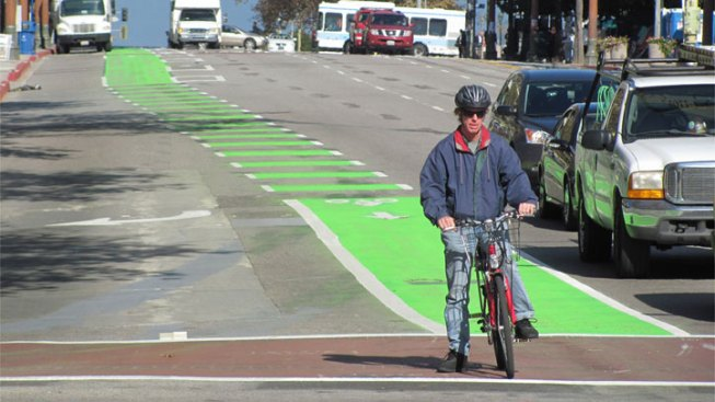 Green Bike Lane Paint Fight Pits Producers Against Cyclists