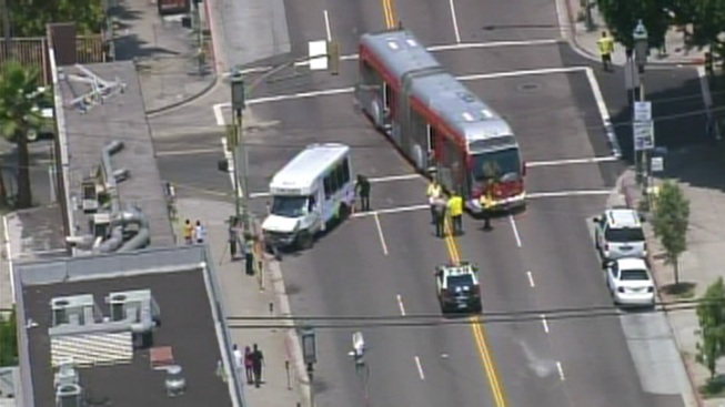 Nine Injured in Metro Bus Crash