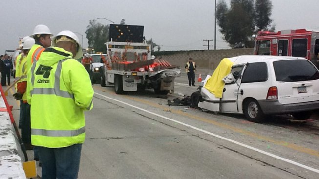 Driver Killed, Workers Injured in 10 Freeway Construction Zone Crash