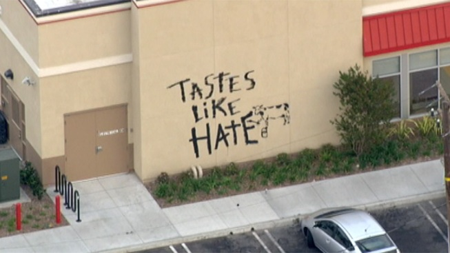 """Tastes Like Hate"" Painted on Torrance Chick-fil-A, More Protests Planned"
