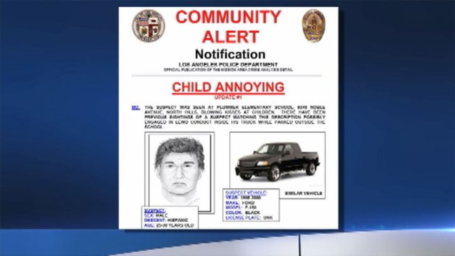 LAPD Seeks Man Who Blew Kisses at Schoolchildren in North Hills