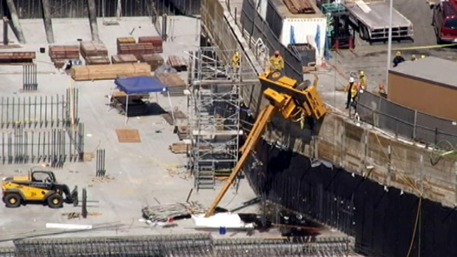 Worker Injured When Crane Topples at West Hollywood Construction Site
