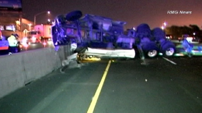 Southbound 710 Freeway Reopens After Overnight Big Rig Crash